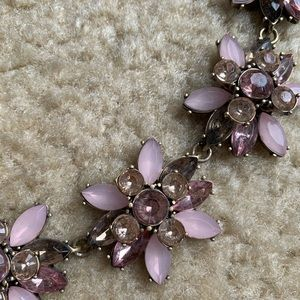 BaubleBar pink flower necklace